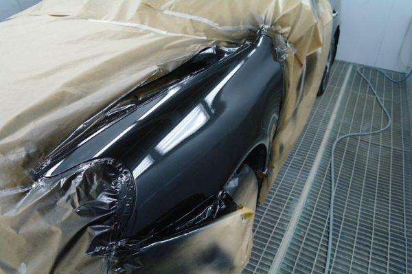 Окрашивание машины в чёрный цвет